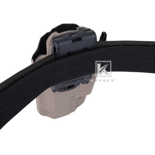 KRYDEX Tactical Belt 1.75 in Heavy Rigger Duty Belt Quick Release Inner /& Outer