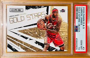 2009-LeBron-James-PANINI-ROOKIES-amp-STARS-BLACK-GOLD-3-100-PSA-10-BGS-prizm