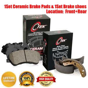 Front Rear Ceramic Brake Pads /& Brake shoes 2SET For Toyota Tacoma 1995-1997