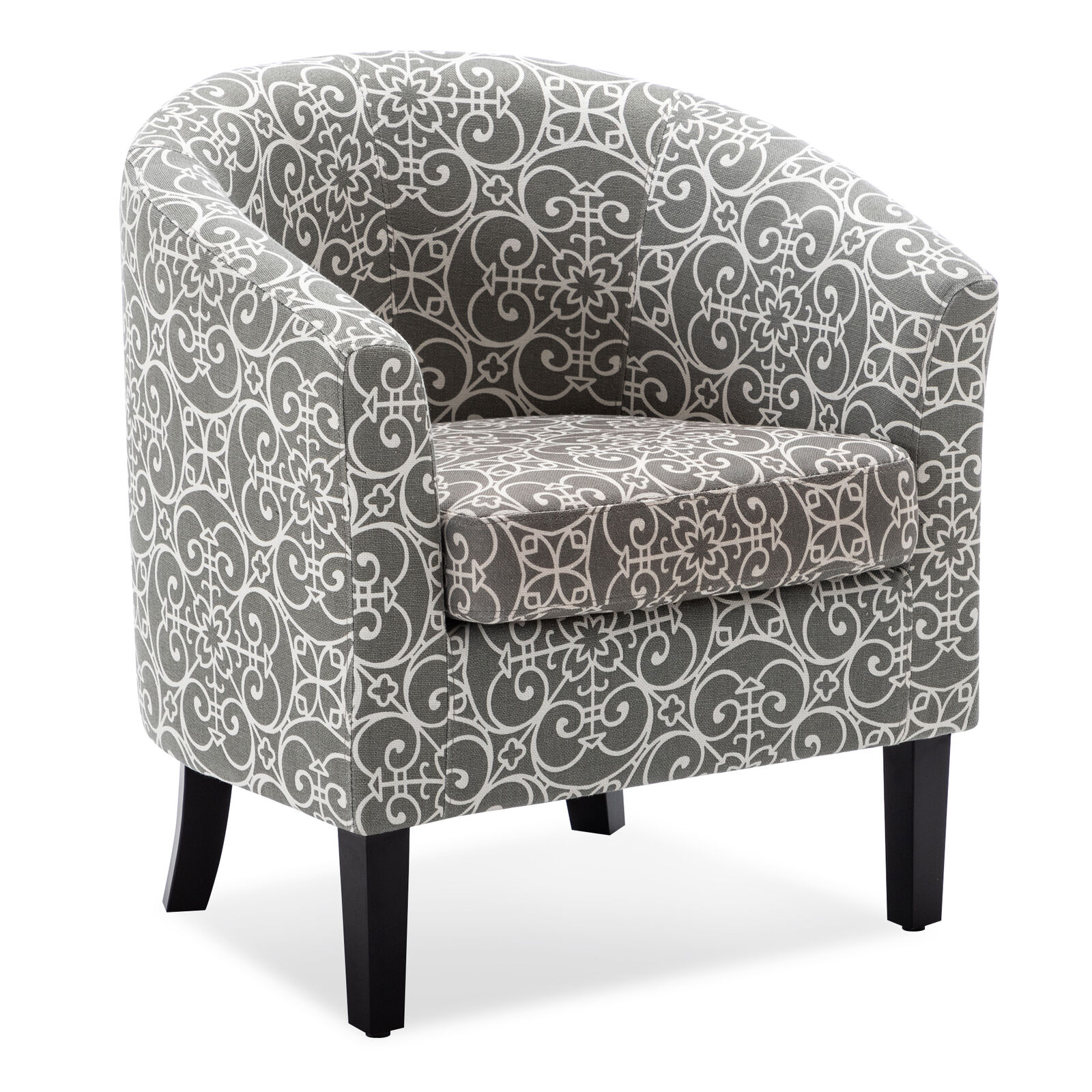 Picture of: Fabric Club Chair Lounge Arm Living Room Upholstered Floral Accent Armchair Seat For Sale Online Ebay