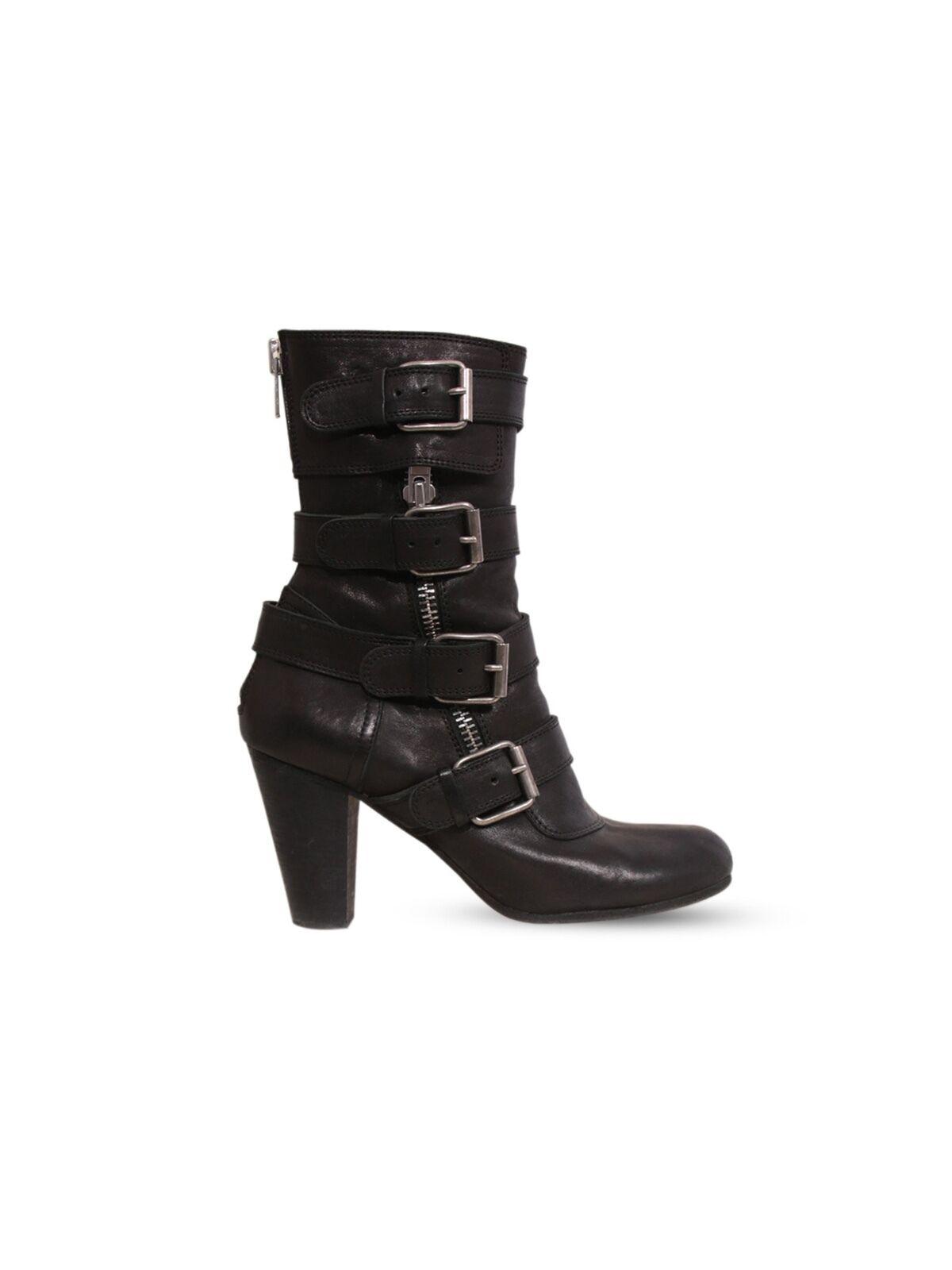 outlet online economico CHLOE Leather Leather Leather nero Buckle stivali (Dimensione 39)  articoli promozionali