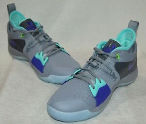 size 40 07a94 4f222 Details about Nike PG 2 Platinum/N-Turquoise Paul George Boys Basketball  Shoes-Sz 6/6.5/7Y NWB