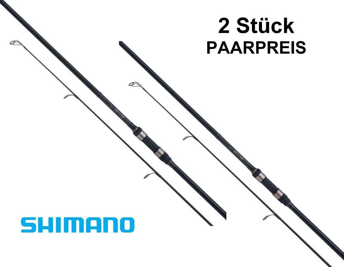 2x Shimano Tribal TX-1 Karpfenrute 3,66m   3,00lb Karpfenruten Paarpreis Set
