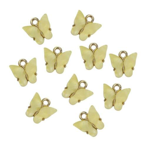 10Pc Butterfly Setting Acrylic Lovely DIY Animal Pendant Charms Handmade Jewelry