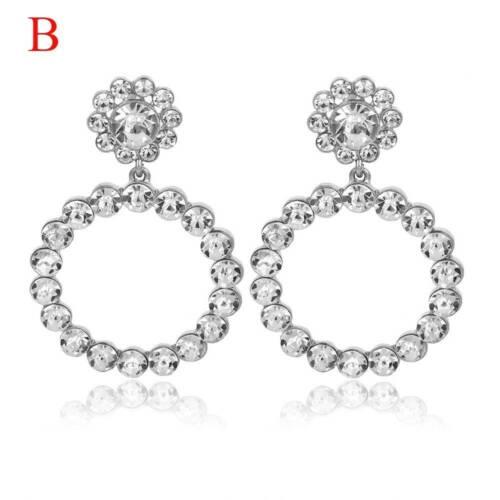 Exagération Pearl Crystal Round Boucles d/'oreilles pendantes femme robe de mariage Boucles d/'oreilles