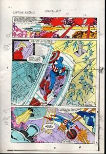 1983-Captain-America-Annual-7-page-12-Marvel-Comics-color-guide-art-1980-039-s