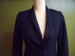 Banana Republic womens blazer jacket  Black size 0 Two button fully lined Nice