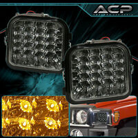 Fits 06-10 Hummer H3 Smoked Full Led Corner Signal Parking Light Lamp Left+right on sale