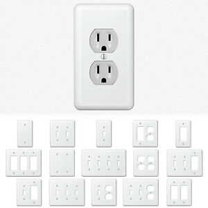 Image Is Loading White Metal Wall Switch Plate Outlet Cover Toggle