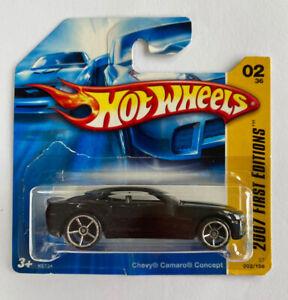 2007-HOTWHEELS-Chevy-Camaro-Concept-V8-Scheda-breve-Nuovo-di-zecca-molto-rara