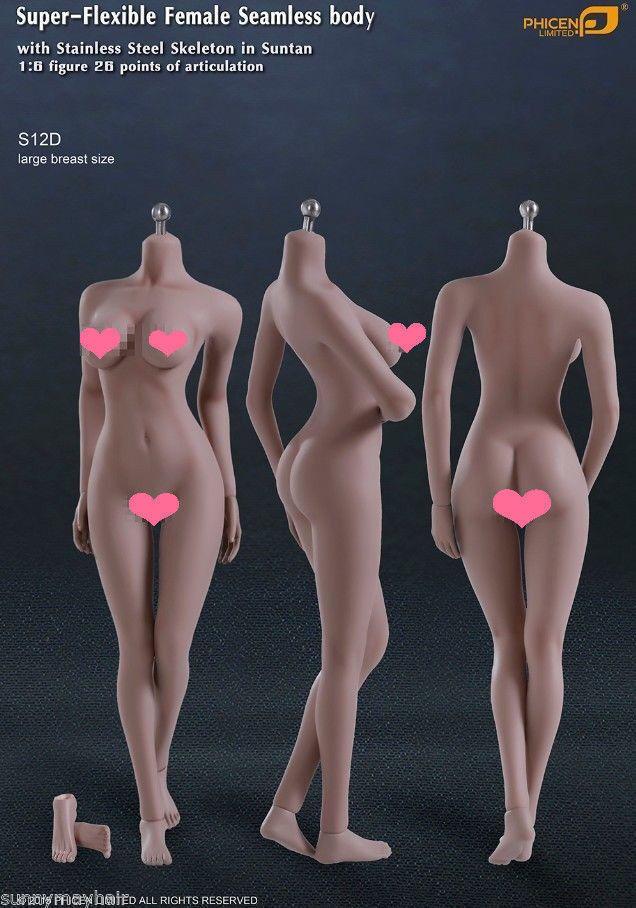 Tbleague 1   6 - skala weibliche körper modell s12d nahtlose abnehmbare action - figur