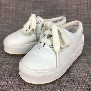 Keds Kids Baby Girl Infant Shoes Size 4 White Classic Champion Lace ... ef32e811c