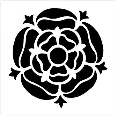 Tudor Rose Stencil-A4//A5//A6