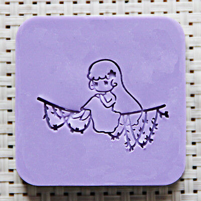 5X5CM Bird Soap Seal Stamp Mold Chapter Natural Acrylic Glass Customized DIY