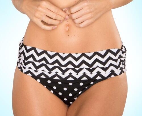Pour Moi Key West Black White Fold Bikini Pant1018-7213 Womens