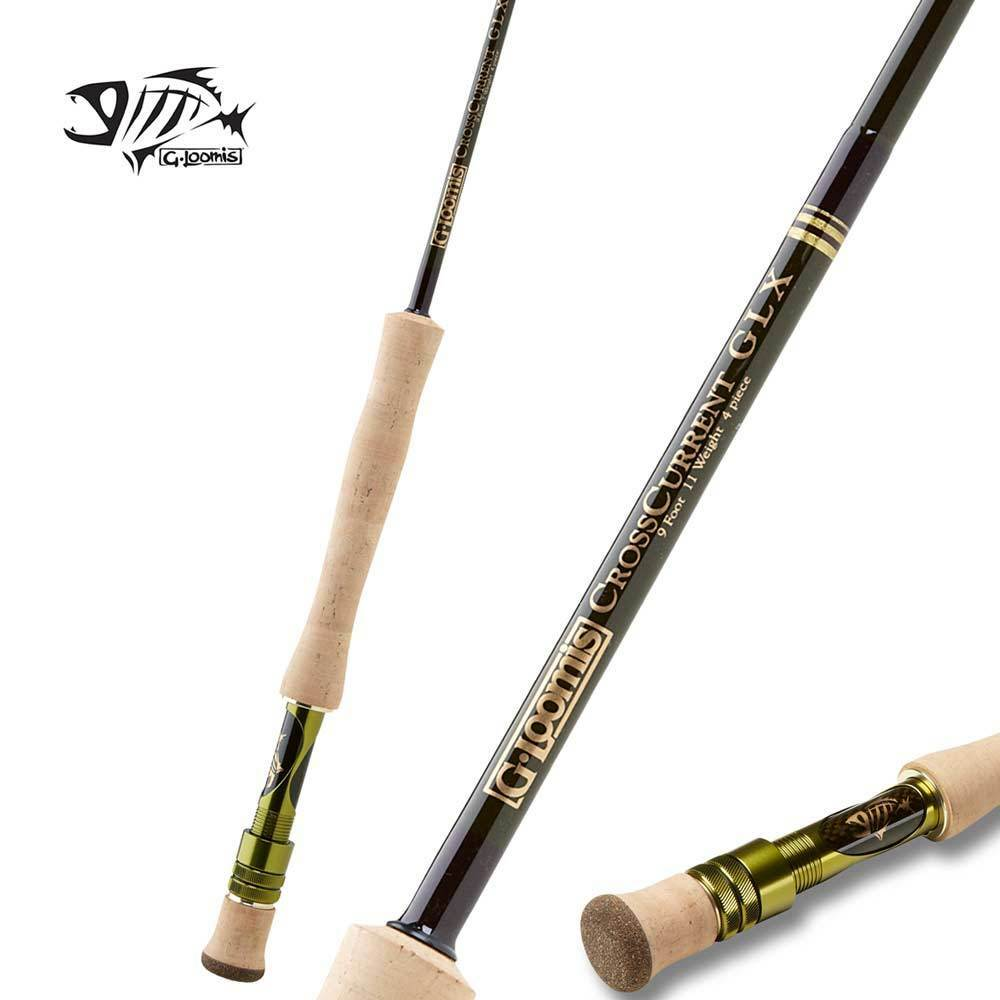 G Loomis CrossCurrent GLX Saltwater Fly Rod FR10812-4 9'0