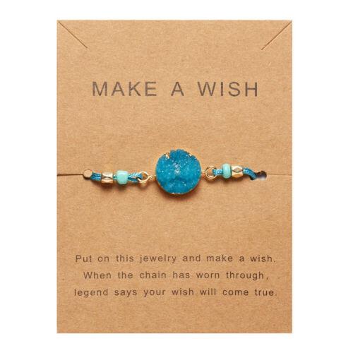 Handmade Charm Heart Star Rope Bracelet Bangle Friendship Couple Card Jewelry