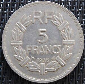 FRANCE-5-FRANCS-LAVRILLIER-1938-NICKEL