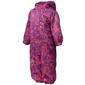 neues Konzept 9bed2 8d3d4 Details zu MINYMO Mädchen Schneeanzug 8000 Wassersäule Overall Sterne lila  Gr. 80 86 92 98