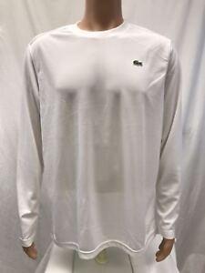 4603c9baf0c4 Lacoste Sports Men's long sleeve Ultra Dry Crew Neck Polo Shirt ...