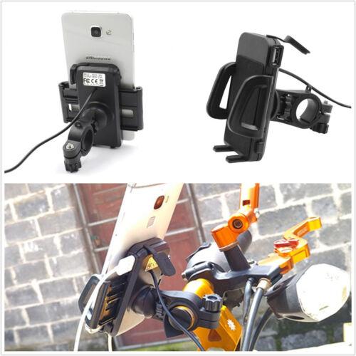 Multifunción Soporte para teléfono a prueba de Agua Motocicleta Manillar de Montaje Cargador USB Kit