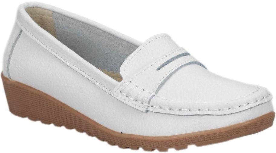 shoes MOCASSINS CUIR white ALIZEA  women (C-23) Pointure 39
