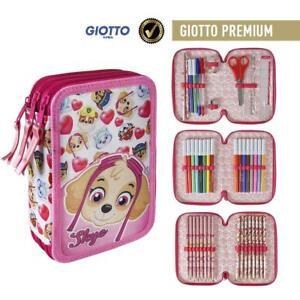 Paw Patrol Skye 3 tier triple pencil case for Kids Chase & Marshall Original