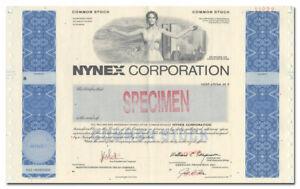 Details About Nynex Corporation Specimen Stock Certificate Big Nyc Vignette