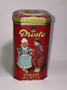 Vtg Droste Chocolate Cocoa Cacao Tin Can Advertising 1984 Dutch Kids - England