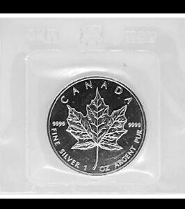 1989 1 Oz Canadian Maple Leaf 5 dollar .9999 Silver Coin BU  C-654