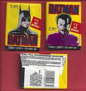 1989-Topps-Batman-1st-series-single-Wax-Pack