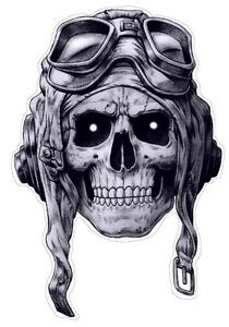 Aviator-Skull-Pegatina-Sticker-craneo-calavera-piloto-avion-aprox-cm-14x10