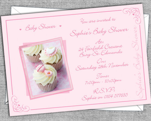 Personalised Baby Shower Invitations Invites