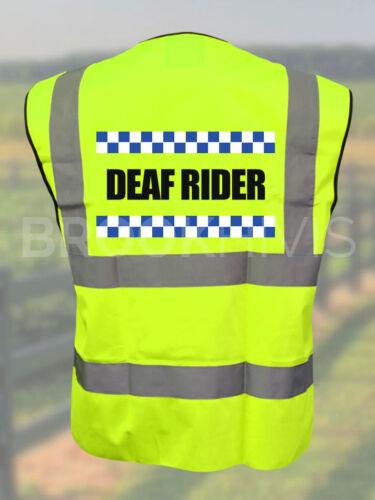 Sillitoe Deaf Rider Hi Vis Vest Reflective High Visibility Ridin