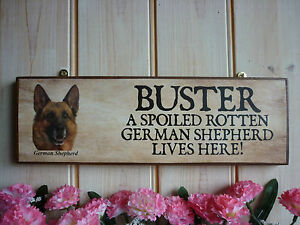 German Shepherd Sign Dog Sign Garden Sign House Plaque German