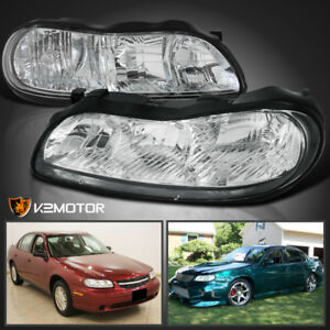 1997-2003 Chevy Malibu Replacement Headlights Clear Corner Lamps Pair