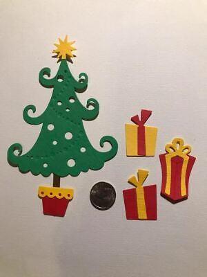 4 Christmas Presents #3 Premade PAPER Die Cuts Scrapbook /& Card Making