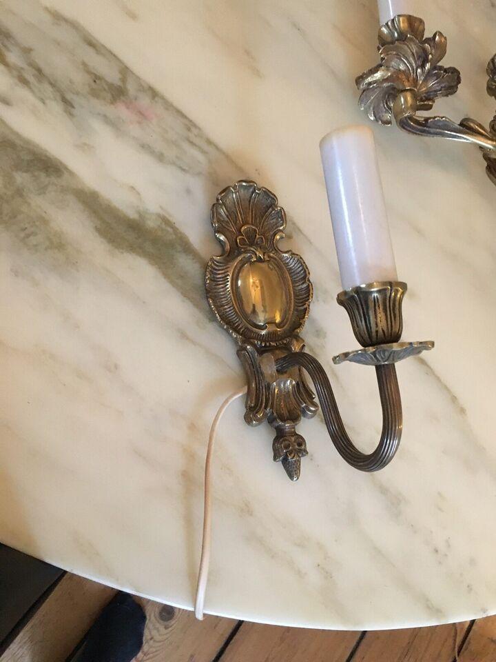 Væglampe, Retro messing læselampe