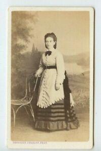 Vintage-CDV-Aristocratic-French-Second-Empire-Beauty-Brossier-Charlot-Photo