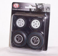 GMP ACME 1/18 Dragster Wheel & Tire Tyre Set A1800812W Diorama Winged Express