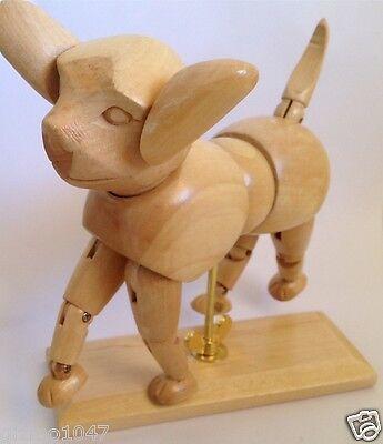 New 30cm Wooden Artist Dog Mannequin