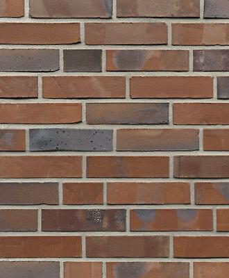 Fassade Baustoffe & Holz Liberal Ringofen-verblender Reichsformat Bh1026 Rot-blau-bunt Vormauersteine Klinker Gute QualitäT