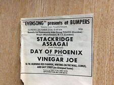 u1-5 ephemera 1971 original advert bumpers vinegar joe stackridge assagai