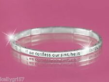I John 1:9 Confess Sins Faith Religious Christian Bible Verse Bracelet #403-A