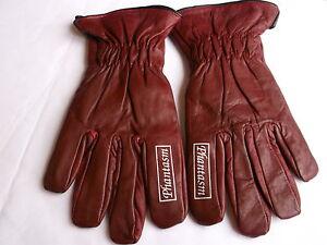 Phantasm-Burgundy-Leather-Custom-Chopper-Motorcycle-Summer-Gloves-Size-M-T