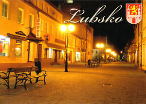 AK, Lubsko, Sommerfeld, Wieczorna ulica, Abendliche Straßenpartie, um 2000