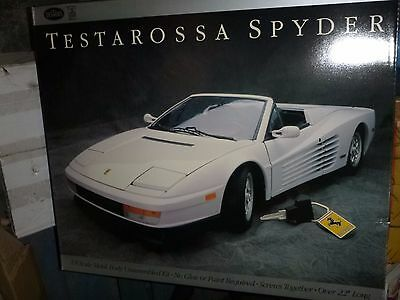 POCHER TESTORS FERRARI TESTAROSSA SPYDER 1/8 MODEL CAR MOUNTAIN KIT FS HUGE #192