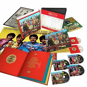 The-Beatles-Sgt-Pepper-039-s-50th-Ann-Super-Deluxe-NEW-4-x-CD-Blu-Ray-DVD