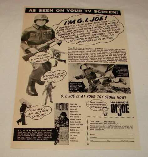 discount on multiples GI Joe 1964-1967 comic ads PICK YOUR FAVORITE