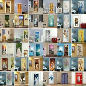 Home Decoration - 3D Door Wall Sticker Decal Self Adhesive Mural Home Bedroom Decor Waterproof ART